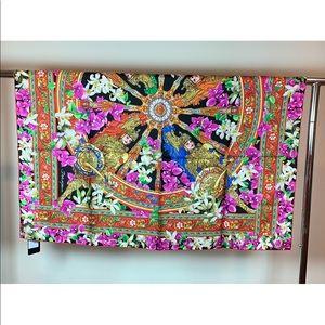 Dolce & Gabbana Multicolor Floral Silk Scarf